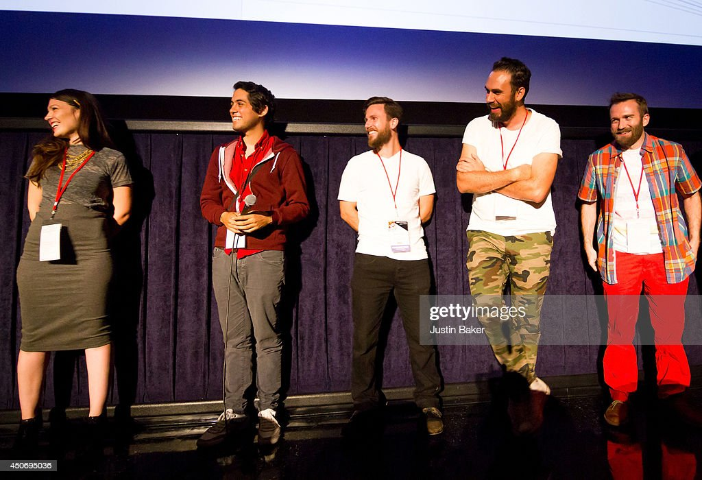 Filmmakers Claire Marie Vogel, Carlos Lopez Estrada, Devon Gibbs, Tomas Whitmore and Brandon Ray speak onstage at Eclectic Mix 1 during the 2014 Los Angeles Film Festival at Regal Cinemas L.A. Live on June 13, 2014 in Los Angeles, California.