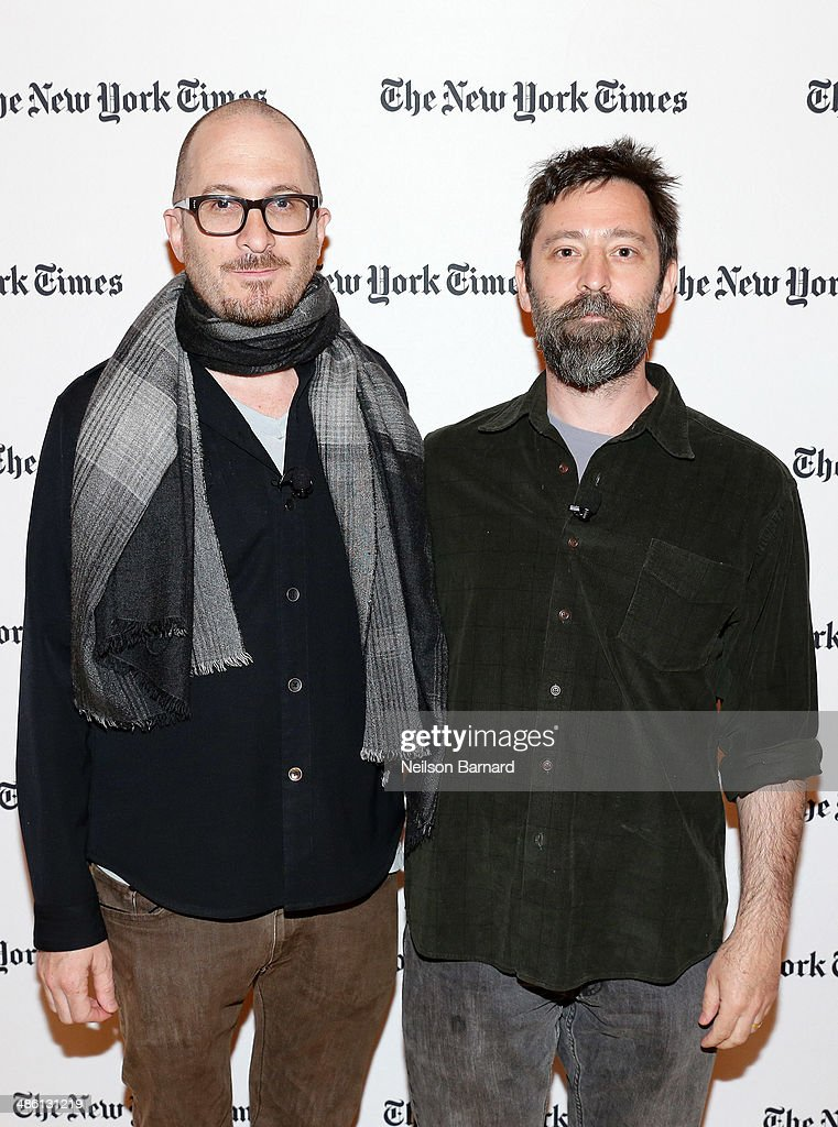 Filmmakers <a gi-track='captionPersonalityLinkClicked' href=/galleries/search?phrase=Darren+Aronofsky&family=editorial&specificpeople=841696 ng-click='$event.stopPropagation()'>Darren Aronofsky</a> (L) and Ari Handel attend the New York Times Cities for Tomorrow Conference on April 22, 2014 in New York City.
