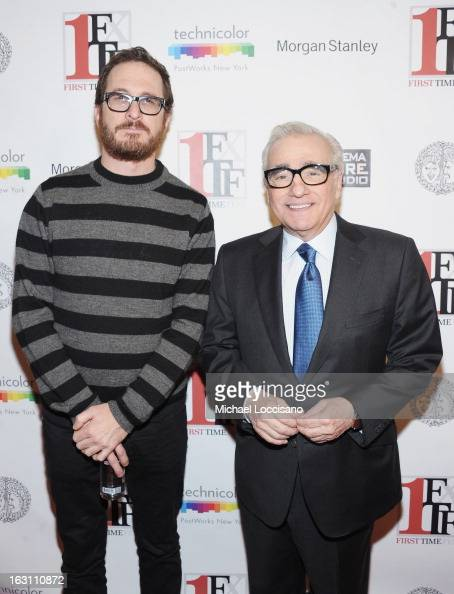 Filmmakers Darren Aronofsky and Martin Scorsese attend the closing night awards during the 2013 First Time Fest at THE PLAYERS on March 4 2013 in New...