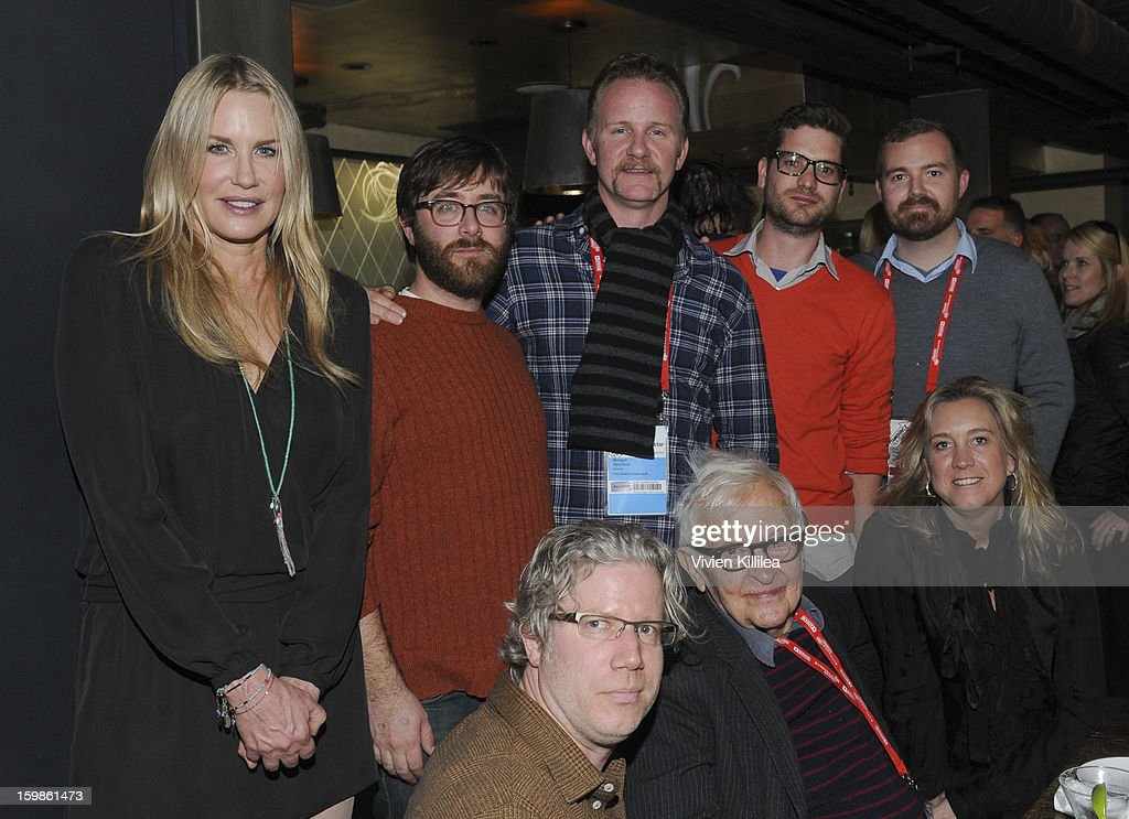 Filmmakers <a gi-track='captionPersonalityLinkClicked' href=/galleries/search?phrase=Daryl+Hannah&family=editorial&specificpeople=201860 ng-click='$event.stopPropagation()'>Daryl Hannah</a>, Jeff Reichert, Eddie Schmidt, <a gi-track='captionPersonalityLinkClicked' href=/galleries/search?phrase=Morgan+Spurlock&family=editorial&specificpeople=212719 ng-click='$event.stopPropagation()'>Morgan Spurlock</a>, <a gi-track='captionPersonalityLinkClicked' href=/galleries/search?phrase=Albert+Maysles&family=editorial&specificpeople=683587 ng-click='$event.stopPropagation()'>Albert Maysles</a>, David White, Joe Peeler and Leslie Iwerks attend Focus Forward - Short Films Big Ideas Dinner - 2013 Park City on January 21, 2013 in Park City, Utah.