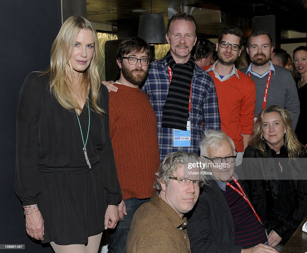 Filmmakers Daryl Hannah, Jeff Reichert, Eddie Schmidt, Morgan Spurlock, Albert Maysles, David White, Joe Peeler and Leslie Iwerks attend Focus Forward - Short Films Big Ideas Dinner - 2013 Park City on January 21, 2013 in Park City, Utah.