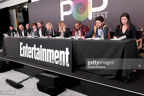 Filmmakers David Caspe Jonathan Groff Josh Bycel Jackie Clarke with actors Zachary Knighton Elisha Cuthbert Eliza Coupe Damon Wayans Jr Adam Pally...