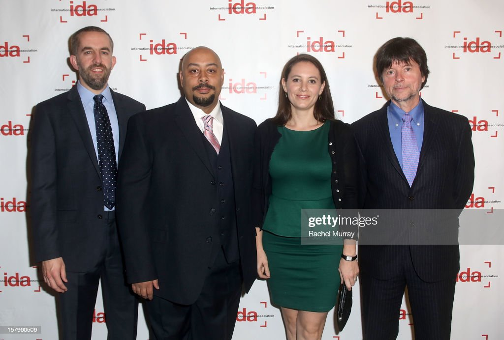 Filmmakers David McMahon, Raymond Santana, Sara Burns, and <a gi-track='captionPersonalityLinkClicked' href=/galleries/search?phrase=Ken+Burns&family=editorial&specificpeople=220451 ng-click='$event.stopPropagation()'>Ken Burns</a> attends the International Documentary Association's 2012 IDA Documentary Awards at DGA Theater on December 7, 2012 in Los Angeles, California.
