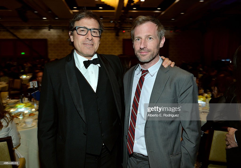 Filmmakers David O Russell and Spike Jonze attend the 2014 Writers Guild Awards LA Ceremony at JW Marriott at LA Live on February 1 2014 in Los...