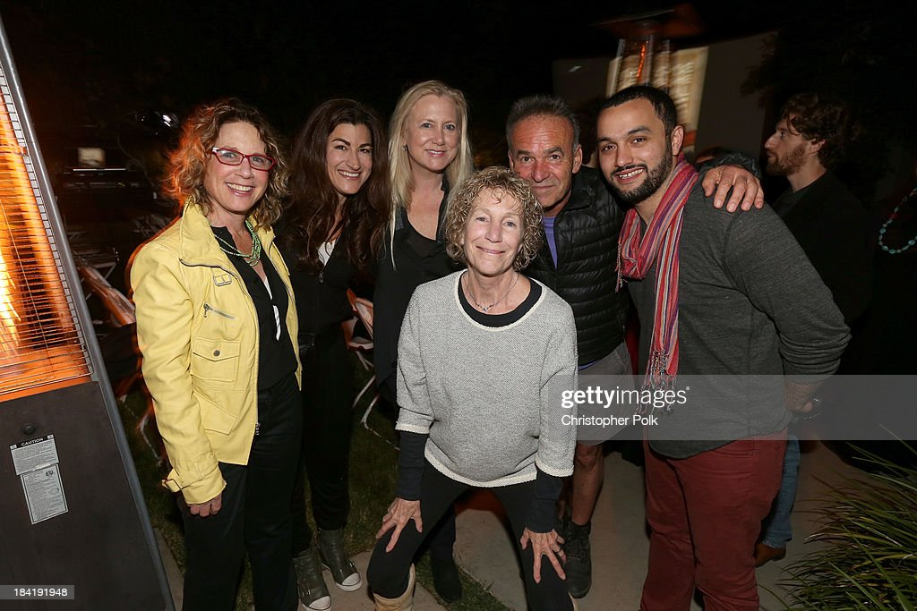 Filmmakers Donna Deitch, <a gi-track='captionPersonalityLinkClicked' href=/galleries/search?phrase=Jehane+Noujaim&family=editorial&specificpeople=234830 ng-click='$event.stopPropagation()'>Jehane Noujaim</a>, <a gi-track='captionPersonalityLinkClicked' href=/galleries/search?phrase=Laura+Bickford&family=editorial&specificpeople=668091 ng-click='$event.stopPropagation()'>Laura Bickford</a>, Joan Churchill, <a gi-track='captionPersonalityLinkClicked' href=/galleries/search?phrase=Nick+Broomfield&family=editorial&specificpeople=226704 ng-click='$event.stopPropagation()'>Nick Broomfield</a> and Karim Amer attend the screening for 'The Square' at the home of Maria Bello on October 11, 2013 in Santa Monica, California.