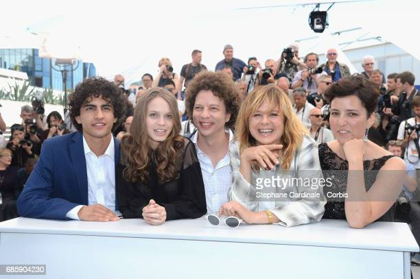 Filmmakers Enrique Arrizon Ana Valeria Becerril Michel Franco Emma Suarez and Joanne Larequi attend the 'April's Daughter' photocall during the 70th...