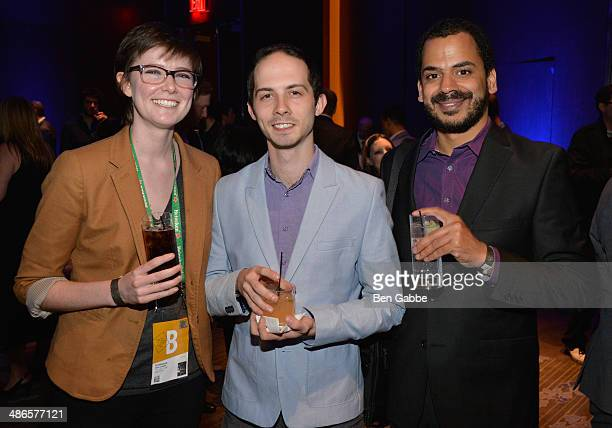 Filmmakers Erin Sanger Zach Bridgman Ronie Brodie attends the TFF Awards Night during the 2014 Tribeca Film Festival at Conrad New York on April 24...