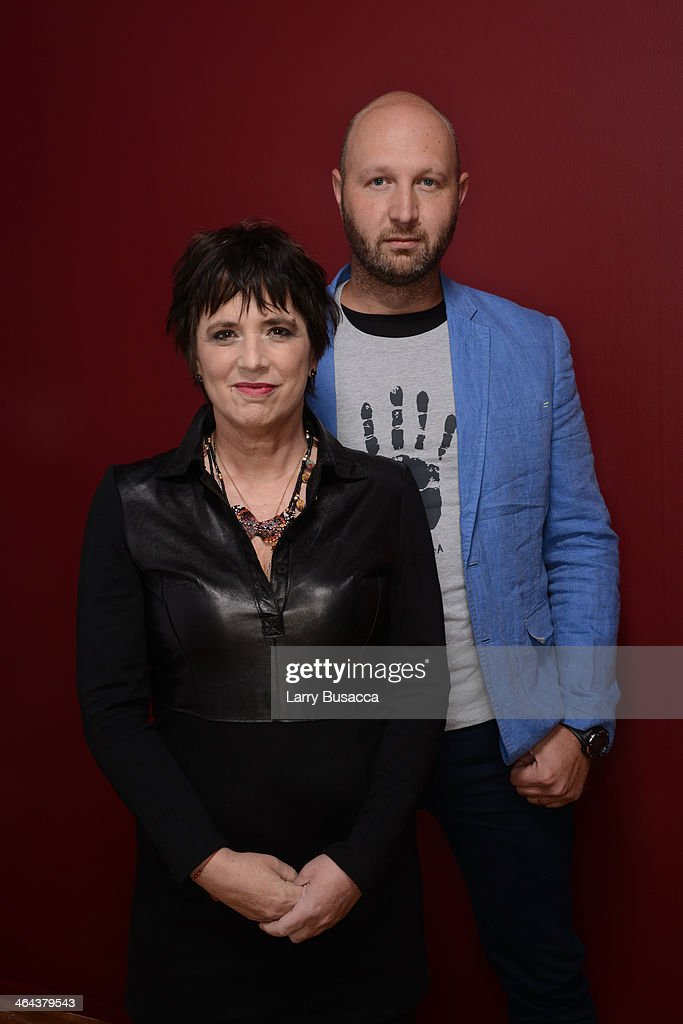Filmmakers <a gi-track='captionPersonalityLinkClicked' href=/galleries/search?phrase=Eve+Ensler&family=editorial&specificpeople=203150 ng-click='$event.stopPropagation()'>Eve Ensler</a> and Tony Stroebel pose for a portrait during the 2014 Sundance Film Festival at the Getty Images Portrait Studio at the Village At The Lift Presented By McDonald's McCafe on January 22, 2014 in Park City, Utah.