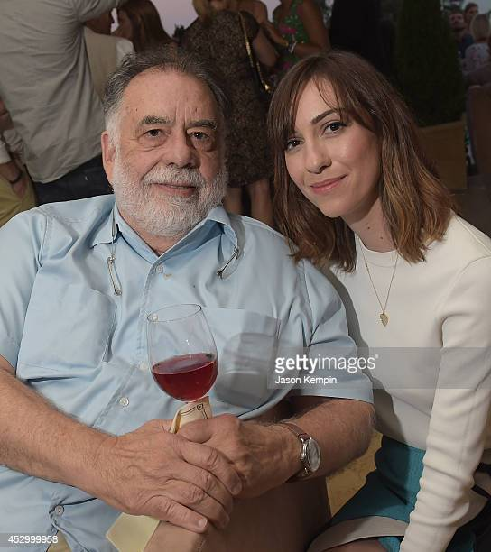 Filmmakers Francis Ford Coppola and Gia Coppola attend the Francis Ford Coppola Winery's 'Gia By Gia Coppola' Wine Launch Celebration at Sunset Tower...