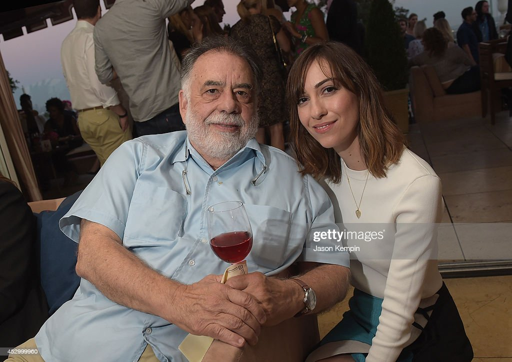 Filmmakers <a gi-track='captionPersonalityLinkClicked' href=/galleries/search?phrase=Francis+Ford+Coppola&family=editorial&specificpeople=204241 ng-click='$event.stopPropagation()'>Francis Ford Coppola</a> and <a gi-track='captionPersonalityLinkClicked' href=/galleries/search?phrase=Gia+Coppola&family=editorial&specificpeople=3099216 ng-click='$event.stopPropagation()'>Gia Coppola</a> attend the <a gi-track='captionPersonalityLinkClicked' href=/galleries/search?phrase=Francis+Ford+Coppola&family=editorial&specificpeople=204241 ng-click='$event.stopPropagation()'>Francis Ford Coppola</a> Winery's 'Gia By <a gi-track='captionPersonalityLinkClicked' href=/galleries/search?phrase=Gia+Coppola&family=editorial&specificpeople=3099216 ng-click='$event.stopPropagation()'>Gia Coppola</a>' Wine Launch Celebration at Sunset Tower Hotel on July 31, 2014 in West Hollywood, California.