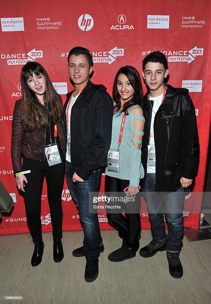 Filmmakers Gina Piersanti, Andrew McCord, Giovanna Salmeni and Jesse Cordasso attend the Day One Party during the 2013 Sundance Film Festival at Legacy Lodge on January 17, 2013 in Park City, Utah.