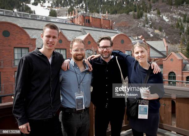 Filmmakers Halfdan Ullmann Tondel Joey Izzo Jakob Rorvik and Andrea Ottmar attend the 2017 Aspen Shortsfest filmmakers breakout sessions on April 7...
