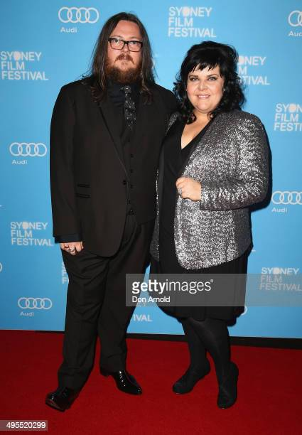 Filmmakers Iain Forsyth and Jane Pollard pose at the Sydney Film Festival opening night at the State Theatre on June 4 2014 in Sydney Australia
