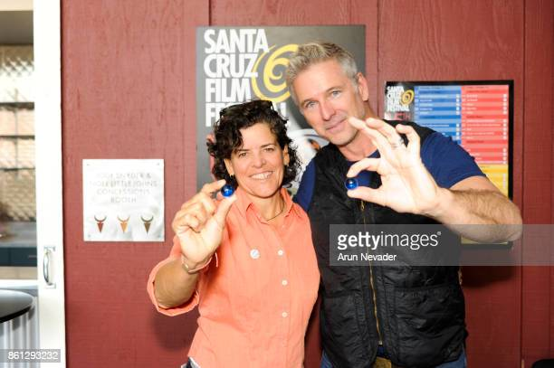 Filmmakers Jacki Nunez and Wallace J Nichols appear for the screening of Straws at the Santa Cruz Film Festival at the Tannery Arts Center on October...