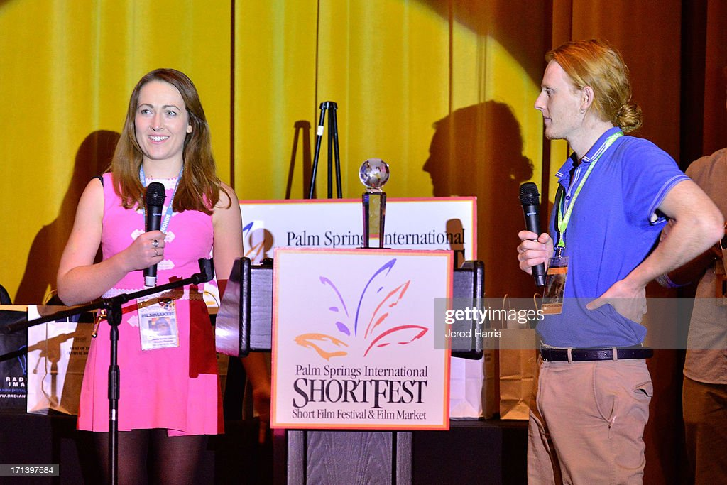 Filmmakers Jessica Lawton and Rhys Miller attend the Palm Springs ShortFest closing night gala on June 23, 2013 in Palm Springs, California.