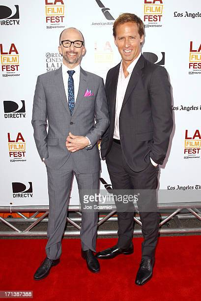 Filmmakers Jim Rash and Nat Faxon attend 'The Way Way Back' premiere sponsored by DIRECTV during the 2013 Los Angeles Film Festival at Regal Cinemas...