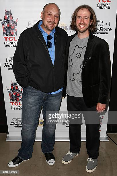 Filmmakers JR Soldano and Michael Ring arrive at the HollyShorts screening of 'Chocolate Milk' at TCL Chinese Theatre on June 19 2014 in Hollywood...