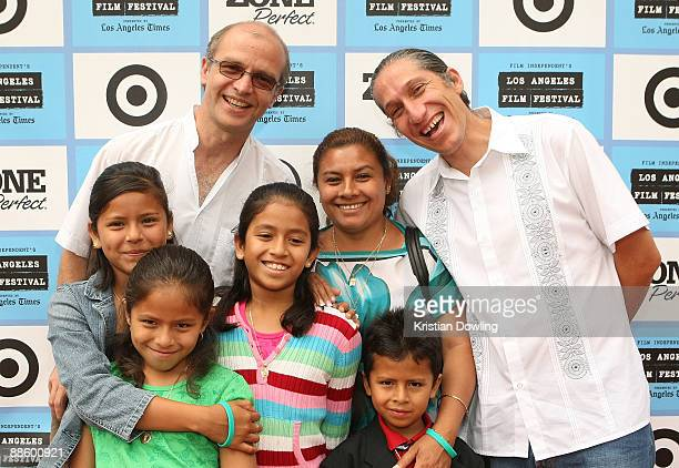 Filmmakers Juan Rulfo Carlos Hagerman and Panduro family attend the 2009 Los Angeles Film Festival's screening of 'Those Who Remain' held at the Mann...