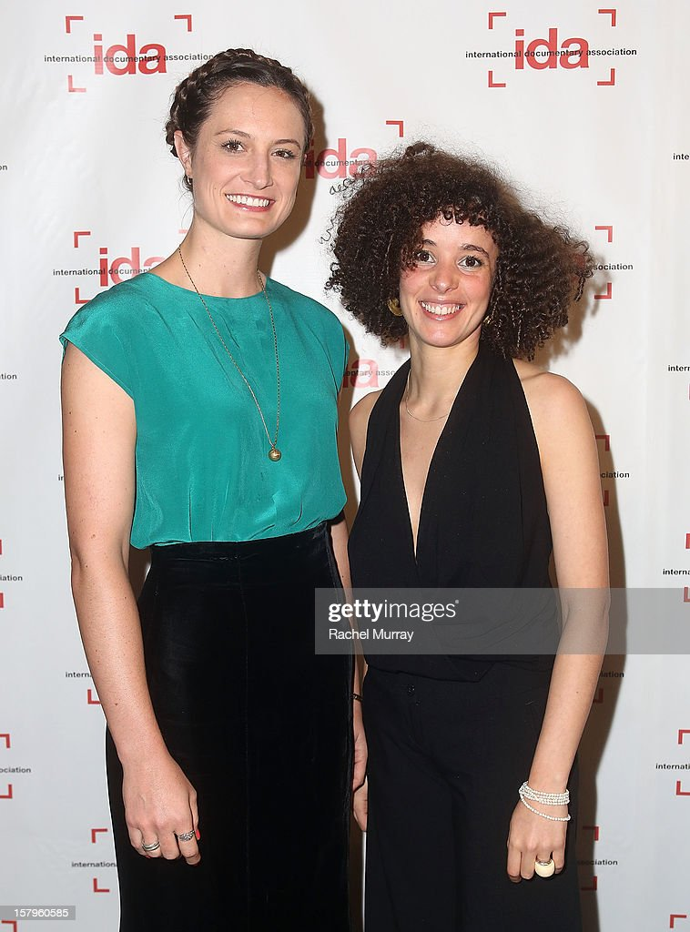 Filmmakers Katherine Fairfax Wright (L) and Malika Zouhali-Worrall attend the International Documentary Association's 2012 IDA Documentary Awards at DGA Theater on December 7, 2012 in Los Angeles, California.