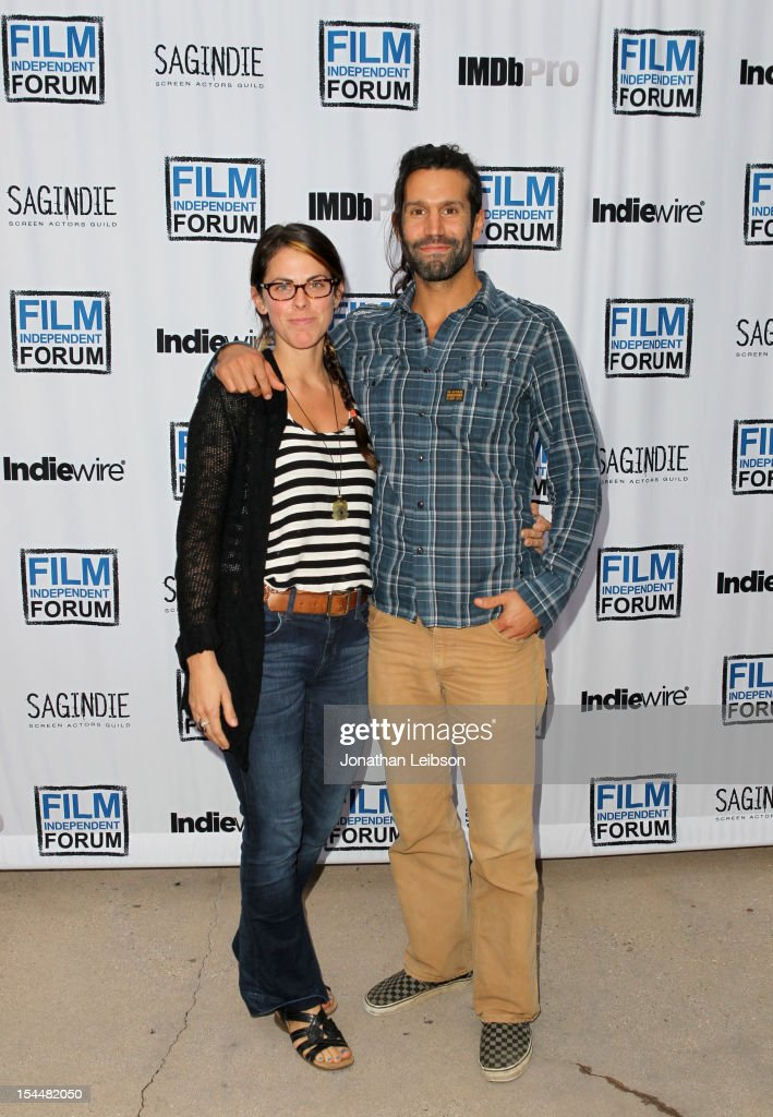 Filmmakers Katrina Taylor and Christopher LaMarca attend the Film Independent Film Forum at Directors Guild of America on October 20, 2012 in Los Angeles, California.