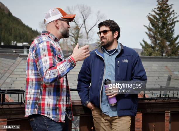 Filmmakers Kevin Byrnes and Ariel Reuven Rosenstein attend the 2017 Aspen Shortsfest filmmakers breakout sessions on April 7 2017 at Mountain Chalet...
