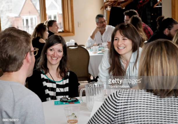 Filmmakers Kristen Kee and Laura Beckner attend the 2017 Aspen Shortsfest filmmakers breakout sessions on April 7 2017 at Mountain Chalet in Aspen...
