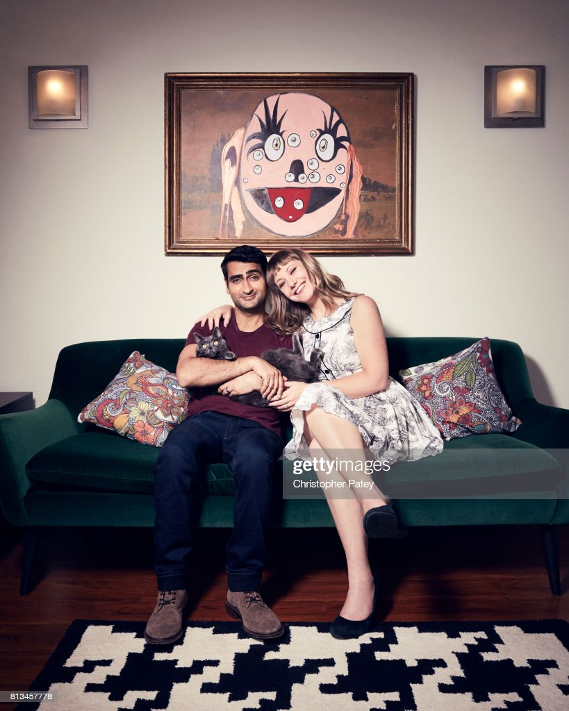 Filmmakers Kumail Nanjiani, Emily Gordon are photographed for People Magazine on June 5, 2017 in Los Angeles, California.