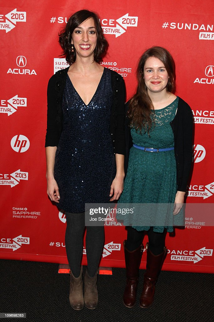 Filmmakers Lana Wilson (L) and Martha Shane attend the 'After Tiller' premiere at Temple Theater during the 2013 Sundance Film Festival on January 18, 2013 in Park City, Utah.