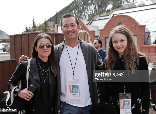 Filmmakers Laura Naylor Jay Cohen and Brenda Lien attend the 2017 Aspen Shortsfest filmmakers breakout sessions on April 7 2017 at Mountain Chalet in...