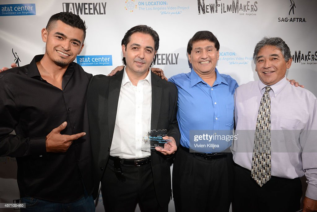Filmmakers Levi Ponce Rafael Serrano Joesph Martinez and Edwin Ramirez attend NewFilmmakers Los Angeles Presents The 2014 On Location Los Angeles...