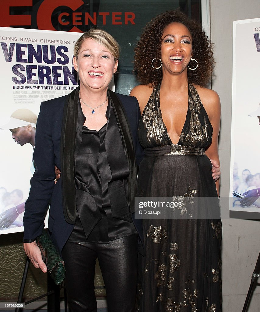 Filmmakers Maiken Baird (L) and Michelle Major attend the 'Venus And Serena' screening at IFC Center on May 2, 2013 in New York City.