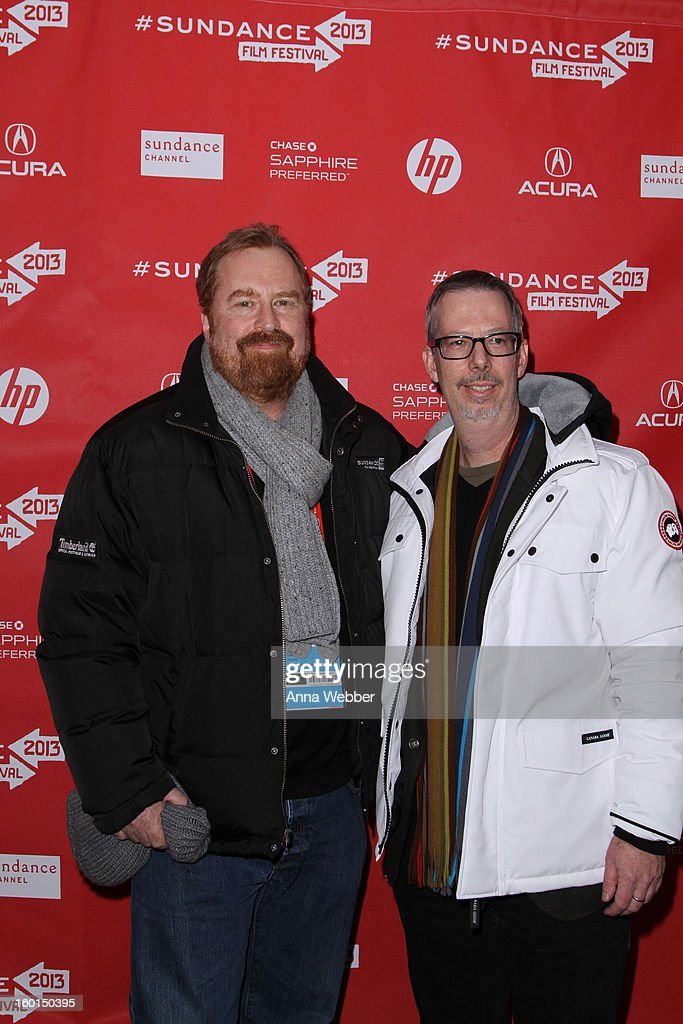 Filmmakers R.J. Cutler and Greg Finton attend the 'The World According To Dick Cheney' Premiere at The Marc Theatre on January 17, 2013 in Park City, Utah.