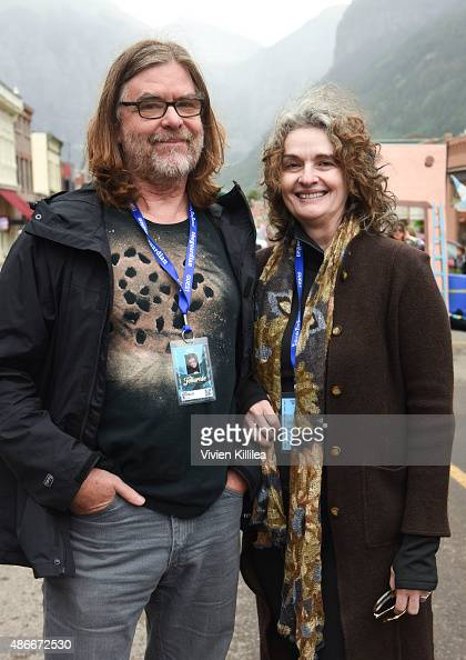 Filmmakers Roger Miller and Debra McLaughlin attend the Opening Night Feed at the 2015 Telluride Film Festival on September 4 2015 in Telluride...