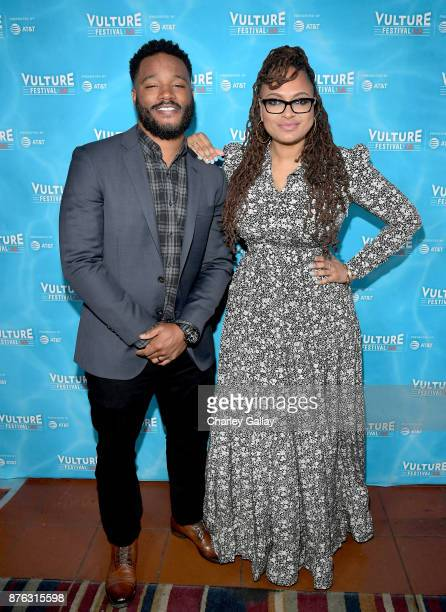 Filmmakers Ryan Coogler and Ava DuVernay attend Vulture Festival LA presented by ATT at Hollywood Roosevelt Hotel on November 19 2017 in Hollywood...