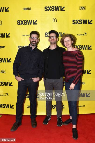 Filmmakers Ryan Dickie Mike Anderson and Abigail Horton attend 'Vimeo Staff Picks Live Director's Commentary' during 2017 SXSW Conference and...