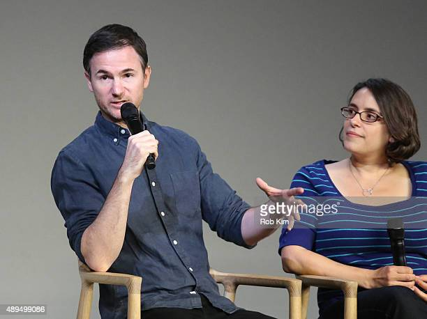 Filmmakers Ryan Fleck and Anna Boden attend Meet The Actor Ryan Reynolds 'Mississippi Grind' at Apple Store Soho on September 21 2015 in New York City