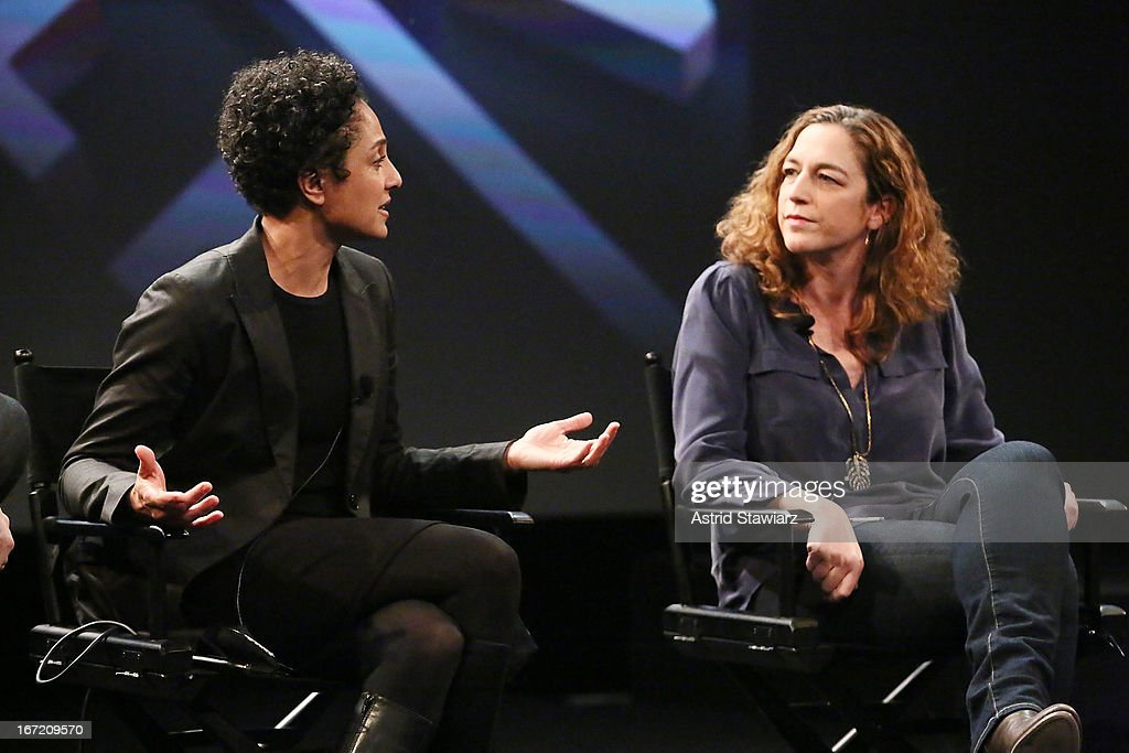 Filmmakers Shola Lynch and Kristi Jacobson attend the Tribeca Talks: The Business of Entertainment: Truth, Persuasion And Bias In Documentaries event at the 2013 Tribeca Film Festival on April 22, 2013 in New York City.