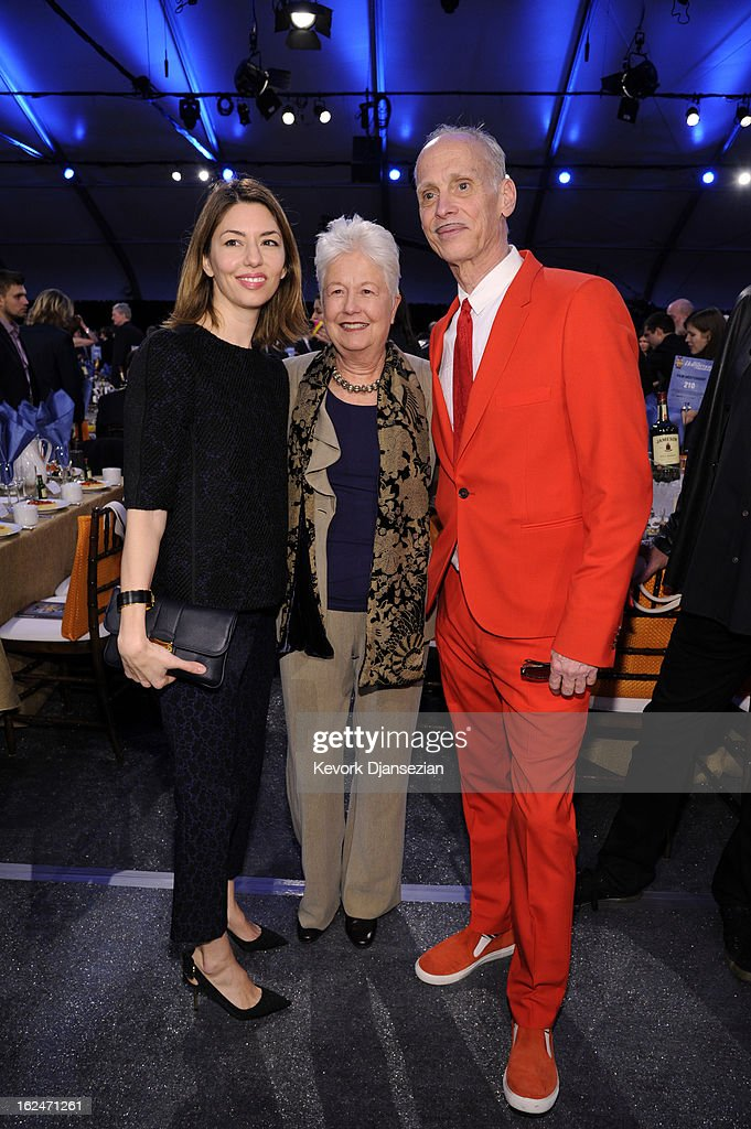 Filmmakers <a gi-track='captionPersonalityLinkClicked' href=/galleries/search?phrase=Sofia+Coppola&family=editorial&specificpeople=202230 ng-click='$event.stopPropagation()'>Sofia Coppola</a>, Eleanor Coppola and John Waters attend the 2013 Film Independent Spirit Awards at Santa Monica Beach on February 23, 2013 in Santa Monica, California.