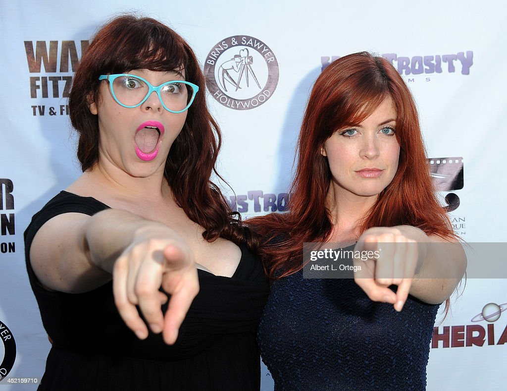 Filmmakers Stephanie Pressman and Heidi Cox arrive for the 2014 Etheria Film Night held at American Cinematheque's Egyptian Theatre on July 12, 2014 in Hollywood, California.