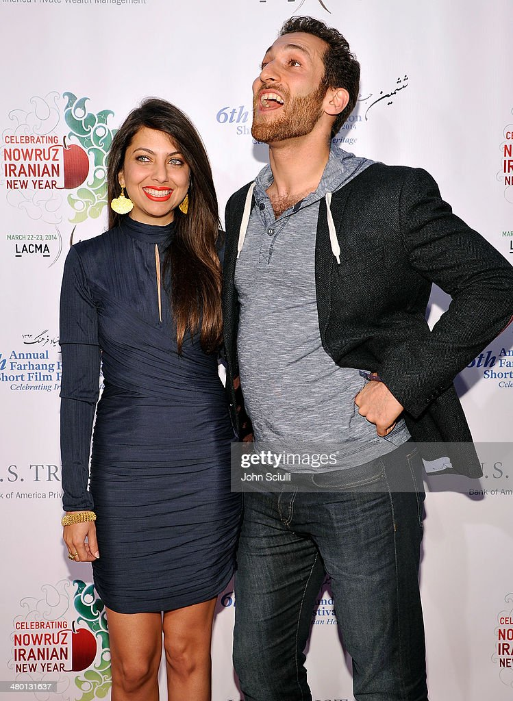 Filmmakers/Actors Kathreen Khavari and Shahaub Roudbari attend the 6th Annual Farhang Foundation's Short Film Festival award ceremony and reception at LACMA on March 22, 2014 in Los Angeles, California.