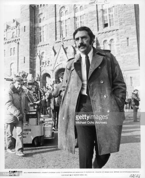 Films author and producer William Peter Blatty on set in a scene from the film 'The Exorcist' 1973