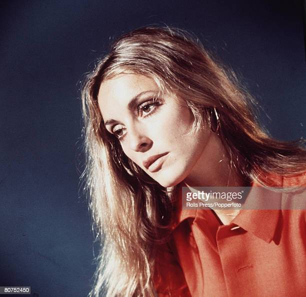 Films Hollywood California USA A miscellaneous studio portrait of American actress Sharon Tate who was found murdered by members of the Manson Family...