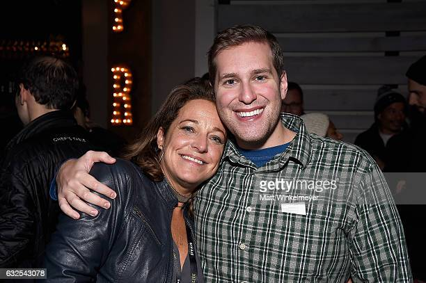 Films Managing Director Susan Turley and Erez Rosenberg attend the Film Independent International Documentary Association Oovra Music And RO*CO FILMS...