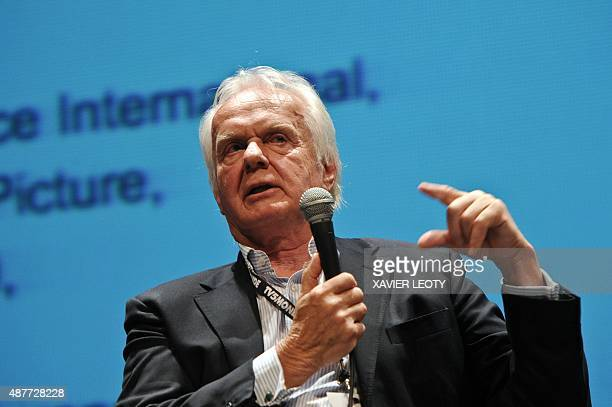Film's president Director General Jan Mojto attends a debate during the 17th Festival of TV fiction in La Rochelle on September 11 2015 AFP PHOTO /...