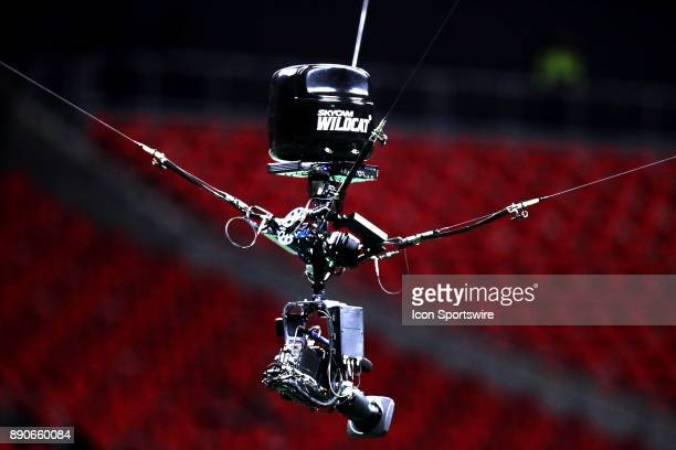 Films Skycam Wildcat before the game against Atlanta Falcons and New Orleans Saints on December 07 2017 at the MercedesBenz Stadium in Atlanta GA