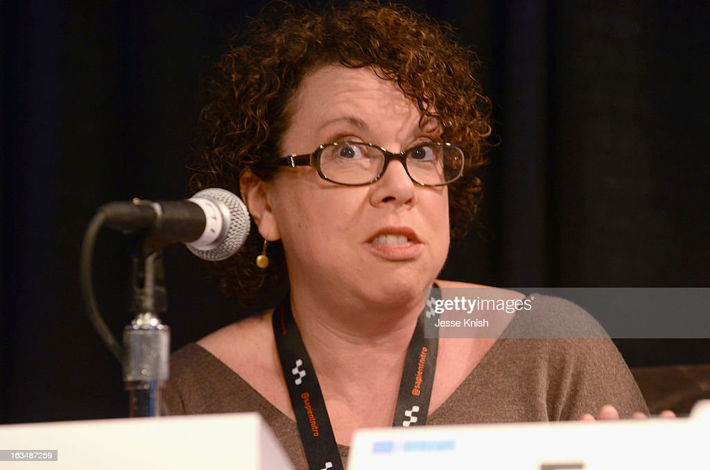 Film/TV editor Stephanie Goodman speaks onstage at The Future Of TV Coverage In A Post-Recap World during the 2013 SXSW Music, Film + Interactive Festival at Austin Convention Center on March 10, 2013 in Austin, Texas.
