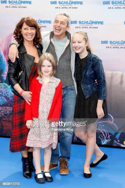 Filomena Iannacone and her daughter Ellen Iannacone Gedeon Burkhard and their daughter Gioia Iannacone attend 'Die Schluempfe Das verlorene Dorf'...