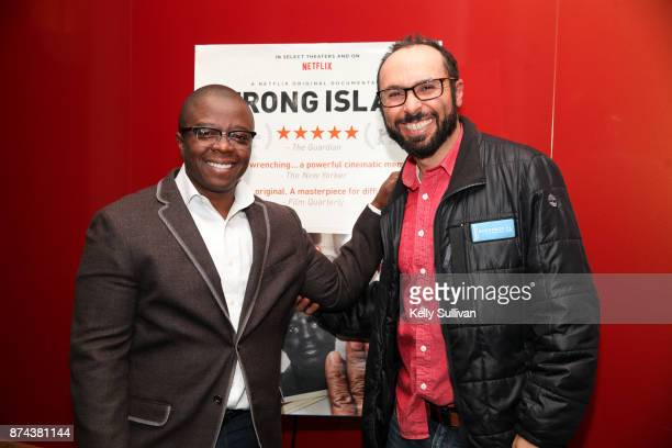 Fimmaker Yoav Potash and Director Yance Ford pose for a photo at a special screening of 'Strong Island' at Landmark Embarcadero on November 14 2017...