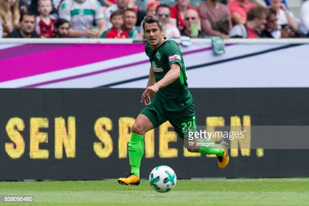 Fin Bartels of Bremen controls the ball during the Telekom Cup 2017 match between Borussia Moenchengladbach and Werder Bremen at on July 15 2017 in...
