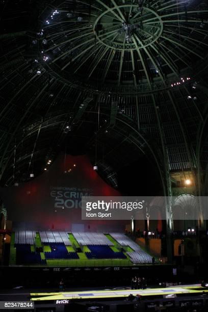 Fin des championnats Ambiance / Illustration Nef / Grand Palais France / USA Finale Epee Hommes par equipe Championnats du Monde Escrime 2010 Paris